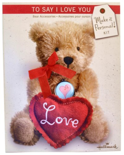 Make it Personal! Hallmarks To Say I Love You Teddy Bear Accessories Kit