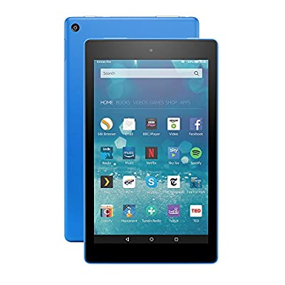 """All-New Fire HD 8 Tablet, 8"""" HD Display, Wi-Fi, 16 GB (Blue) - Includes Special Offers"""