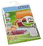 WENKO 3792780100 Komprimierungssystem Roll L - bis zu 75% Platzersparnis, Kunststoff-Nylon, 60 x 95 cm
