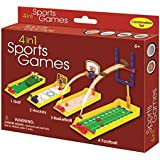 Golf Hockey Basketball and Football 4 in 1 Sports Games for Tabletop or Desk