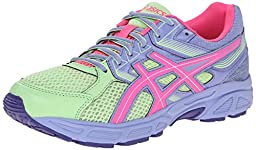 ASICS Gel Contend 3 GS Running Shoe (Little Kid/Big Kid), Pistachio/Hot Pink/Lavender, 3 M US Little Kid