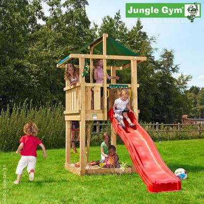 Jungle Gym Spielturm HUT mit Rutsche - Gelb