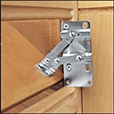 "Rev-A-Shelf 6552-95-0220 6552 Seriesone Pair of Hinges for Tip-Out Trays 16"" or Longer, Chrome"
