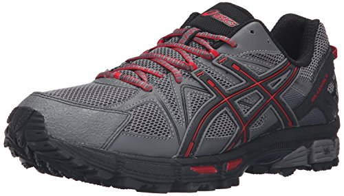 ASICS Men's Gel-Kahana 8 Trail Runner, Shark/Black/True Red, 10.5 M US (Asics Mens Running Shoes compare prices)