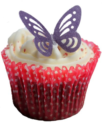 Butterfly Wafers Cake Decoration : Toppercake Edible Wafer Butterfly Cup Cake Decorations ...