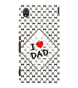 I Love Dad 3D Hard Polycarbonate Designer Back Case Cover for Sony Xperia M4 Aqua :: Sony Xperia M4 Aqua Dual