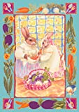 Toland-Home-Garden-101197-Bunny-Ladies-Standard-Flag-28-Inch-by-40-Inch