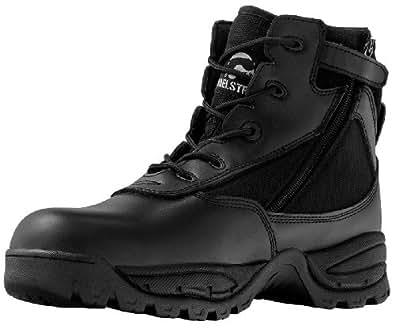 Maelstrom(R) PATROL 6'' Black Tactical Duty Work Boots with Zipper - P1360Z Size 7 Medium
