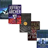 Jeffrey Archer Jeffrey Archer 5 Books Collection Set, (Sons of Fortune A Prisoner of Birth The Fourth Estate Not a Penny More Not a Penny Less The Eleventh Commandment