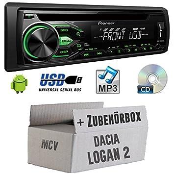 Dacia Logan 2MCV-Pioneer deh1800ubg-Kit de montage autoradio CD/MP3/USB -