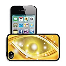 buy Luxlady Premium Apple Iphone 4 Iphone 4S Aluminum Backplate Bumper Snap Case Image Id 31023358 Abstract Gold Wavy Line Background