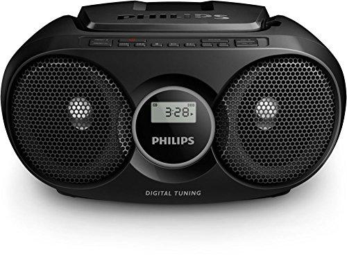 Philips AZ215B lecteur CD/CD-R/CD-RW, tuner FM, entrée audio, facile à utiliser, Noir