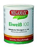 Megamax Eiweiss Schoko. Molkenprotein + Milcheiwei� Eiwei� Protein mit Biologischer Wertigkeit ca. 100. F�r Muskelaufbau und Diaet. Inhalt: 750 g Bild