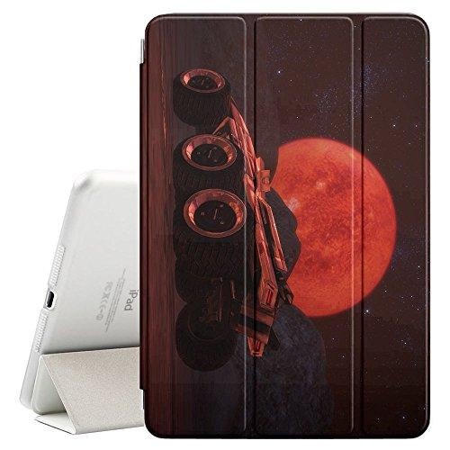 YOYOcovers [ FOR iPad Mini 2 / 3 / 4 ] Smart Cover con funzione del basamento di sonno - cool moon rider future sky planet