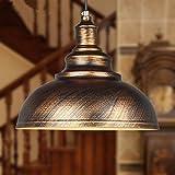 Einfache retro kreative Restaurant Single Head Eisentreppe Leuchten europäischen amerikanischen Industrie Bronze-Kronleuchter