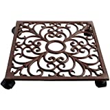 Esschert Design Plant Trolley - Square Cast Iron