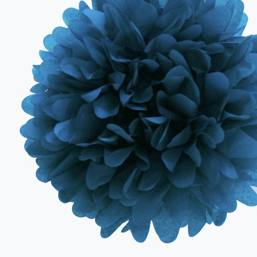 Dress My Cupcake 5-Inch Peacock Tissue Paper Pom Poms, Birthday Party Decorations Boys Adults/Coordinate With Favors, Set Of 8