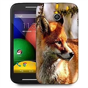 Snoogg Abstract Fox Designer Protective Phone Back Case Cover For Motorola E2 / MOTO E22
