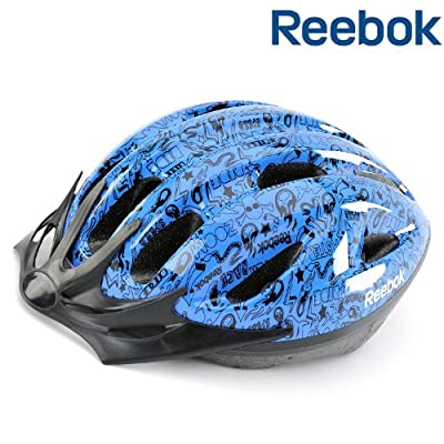 Reebok Junior Biking Helmet Boys Blue - 50-54cm 11 Air Vents by RFE International