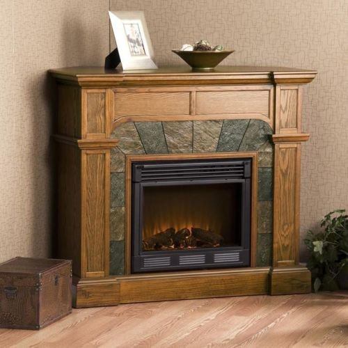 The Hollandale Mission Oak Electric Fireplace Will Keep You Warm And Accent The Furniture In Any