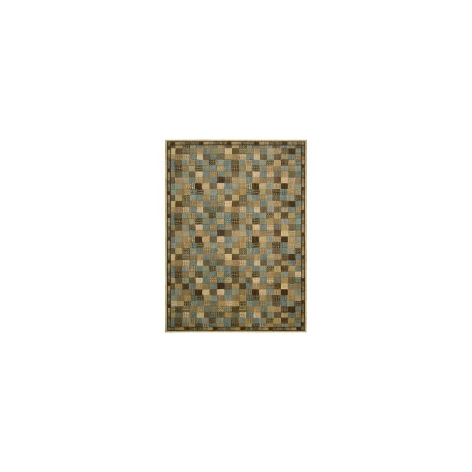 Nourison Radiant Impression (LK05) Multicolor Rectangle Area Rug, 5 Feet 6 Inches by 7 Feet 5 Inches (56 x 75)