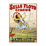 SELLS FLOTO vintage circus ad poster 24X36 GREAT FOR HOME DECOR!