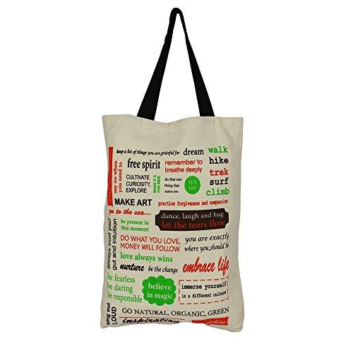 Cotton Canvas multiuso shopping bag con Graphic - romantiche idee regalo per lei