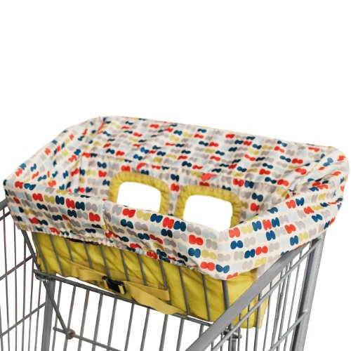 Sale!! Skip Hop Take Cover Shopping Cart/High Chair Cover, Double Dots