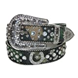 CTM® Womens Rhinestone Horseshoes on Mossy Oak Camo Belt