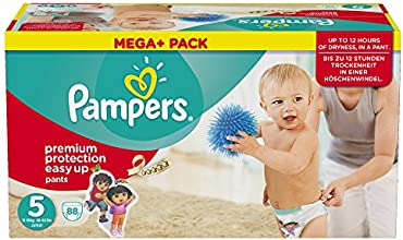 Pampers Windeln Easy up Gr. 5 Junior 12-18 kg Mega plus Pack, 1er Pack (1 x 88 Stück)