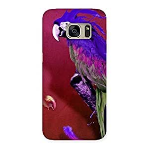 Special Magic Parrot Multicolor Back Case Cover for Galaxy S7