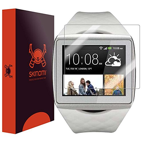 Skinomi® TechSkin - HTC One Wear Smartwatch Screen Protector Premium HD Clear Film with Free Lifetime Replacement Warranty / Ultra High Definition Invisible and Anti-Bubble Crystal Shield - Retail Packaging