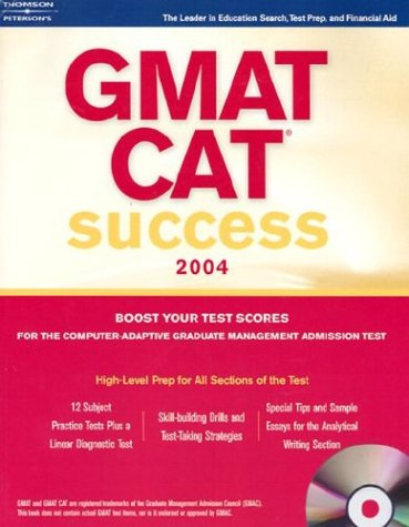 GMAT Success w/CDRom 2004 (PETERSON'S GMAT CAT SUCCESS), Peterson's