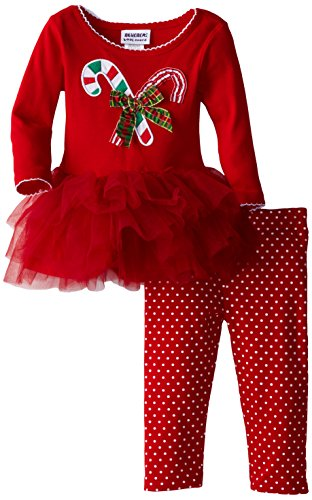 Blueberi Boulevard Baby-Girls Infant Candy Cane Holiday Tutu Set, Red, 12 Months Reviews