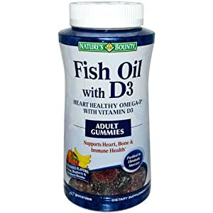 Natures bounty fish oil with vitamin d3 adult for Fish oil vitamin e