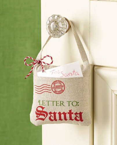 """Letters To Santa"" Door Pillow For Christmas"