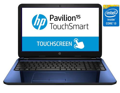 Hp Pavilion Touchsmart 15-R053 Touchscreen Laptop Intel 4Th Generation I3-4010U Processor 6Gb Ram 750Gb Hard Drive 15.6-Inch Hd Multi-Touch Display Hd Webcam Wifi Usb 3.0 Hdmi Windows 8.1 (Blue)