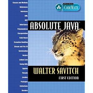 Absolute Java  - Walter Savitch