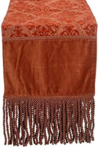 "Elaine Table Runner, 12""HX72""W, RUST"