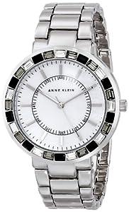 Anne Klein Women's AK/1697MPSV Swarovski Crystal Accented Silver-Tone Bracelet Watch