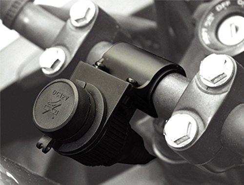 BC Battery Controller 710-P12A Presa Accendisigari 12 V a Tenuta Stagna, Supporto per Manubrio, Nero