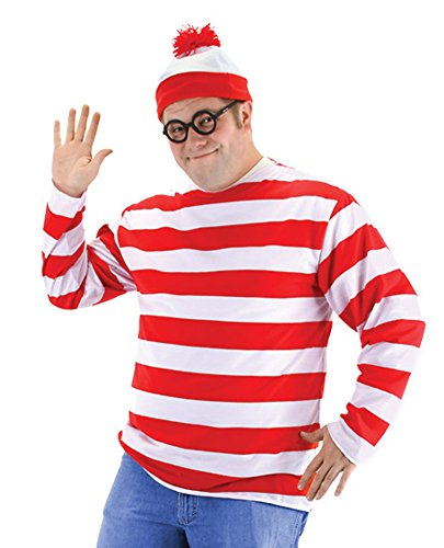Wheres Waldo Adult Kit 2X Adult Mens Costume