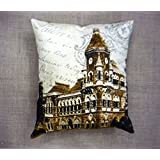 Which Kraft Cotton Canvas Old Ind 3 Cushion Cover- Multi Color, 40.64 Cm X 40.64 Cm