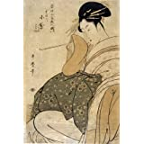 Woman with a pipe, by Kitagawa Utamaro (Print On Demand)