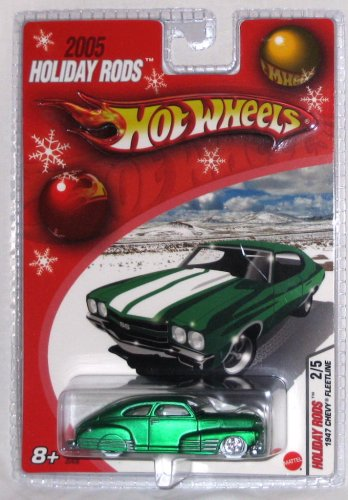 Hot Wheels 2005 Holiday Rods 1947 CHEVY FLEETLINE in Green 1:64 Scale Die Cast Car - 1