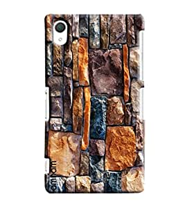 Omnam Wall Made Of Stone Printed Designer Back Cover Case For Sony Xperia Z2