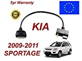 KIA Sportage MY 2009 - 2011 ipod iphone 3gs 4 4s connectivity audio 3.5mm & USB Cable