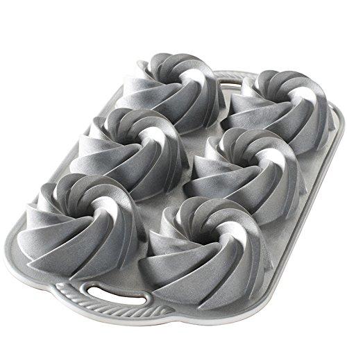 Nordic Ware Heritage Bundtlette Cake Pan, Metallic