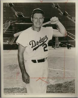 "Rifleman Chuck Connors 8"" X 10"" in a ""Los Angeles Dodgers uniform"