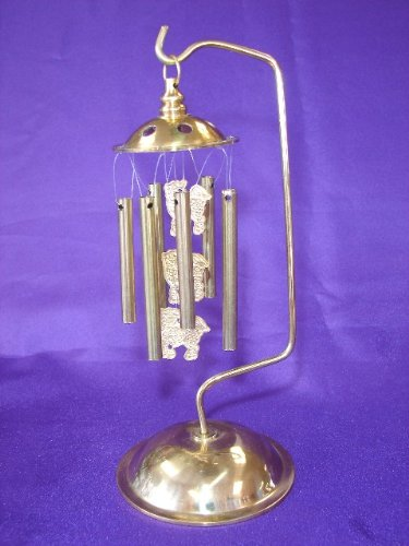 6-Rod Metal Wind Chime With 3 Chi Lin